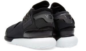 Adidas Y-3 Qasa High черные с белым
