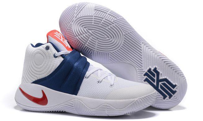 Nike Kyrie 2 White Blue белые с синим (40-45)