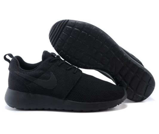 Nike Roshe Run черные (40-45)
