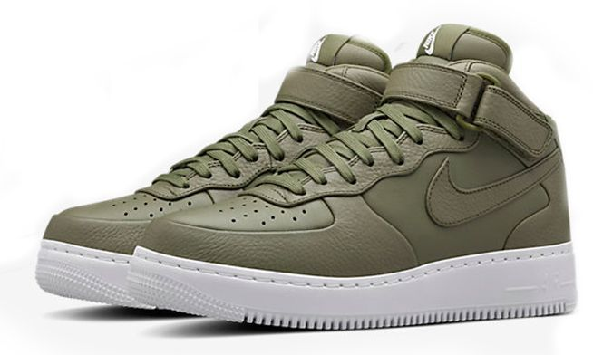 Nike Air Force 1 Lab mid зеленые (35-44)