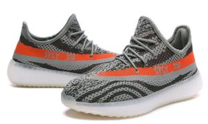 Adidas Yeezy Boost 350 V2 серо-оранжевые (39-44)