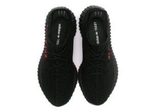 Adidas Yeezy Boost 350 V2 черные с красным (35-44)