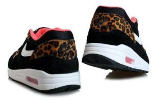 Nike Air Max 87 черные с леопардом 35-40