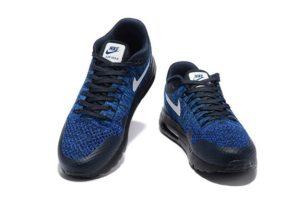 Nike Air Max 87 Ultra Flyknit синие с черным 40-44