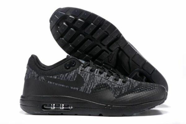 Nike Air Max 87 Ultra Flyknit черные с серым 40-44