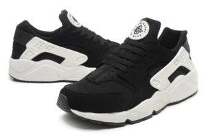Nike Huarache черные с белым (35-45)