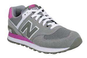 New Balance 574 серые с розовым (36-40)