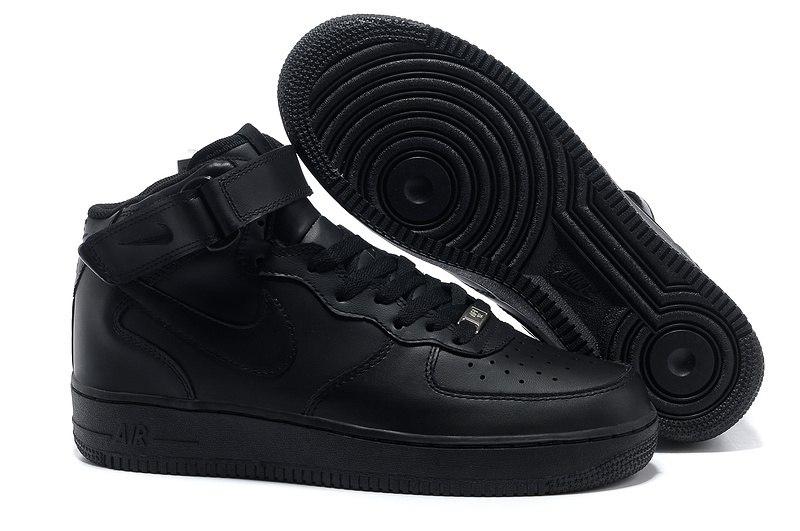 79e48e05 Кроссовки Nike Air Force 1 черные (35-45) — купить в Москве. Дисконт ...