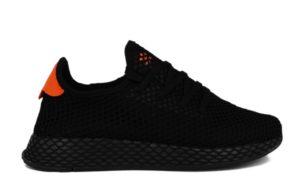 Adidas Deerupt Runner черные с оранжевым (35-39)