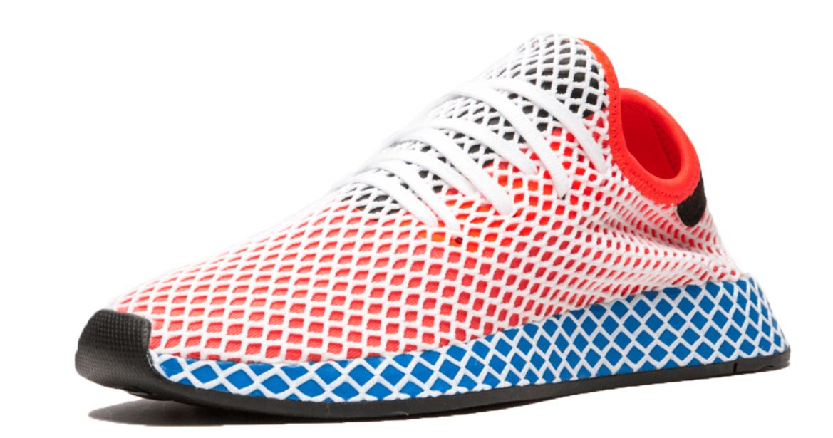 13afc204 Adidas Deerupt Runner J красные с синим (35-39) — купить в Москве ...