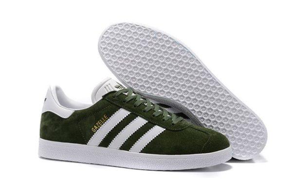 Adidas Gazelle Suede темно-зеленые с белым (40-44)
