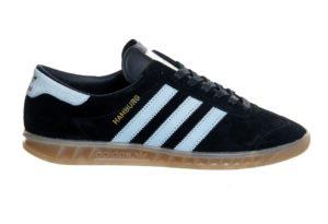 Adidas Hamburg черные с белым (39-44)