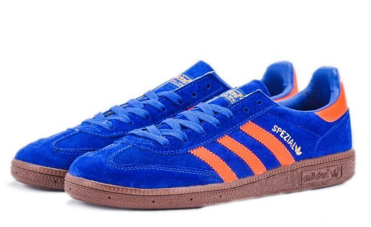 Adidas Spezial синие с оранжевым (39-44)