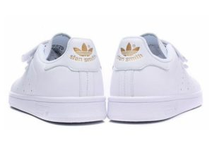 Adidas Stan Smith CF белые с золотым (35-39)