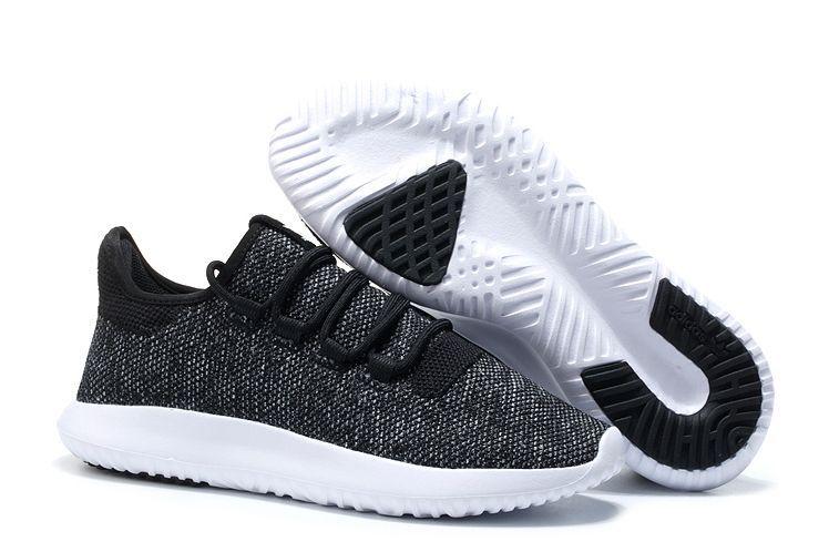 Adidas Tubular Shadow Knit черные с белым (35-44)