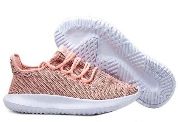 Adidas Tubular Shadow Knit персиковый с белым (35-39)