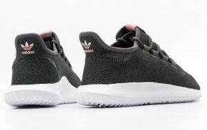 Adidas Tubular Shadow темно-зеленые с розовым (40-44)