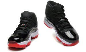 Nike Air Jordan 11 Retro High черные с красным (40-45)