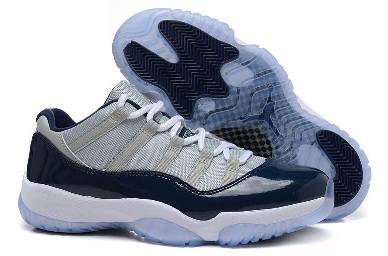 Nike Air Jordan 11 Retro синие с белым (40-45)