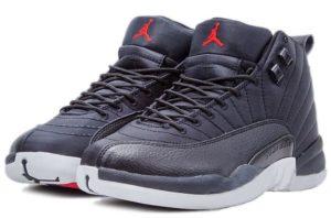 Nike Air Jordan 12 Retro черные с белым кожа (40-45)