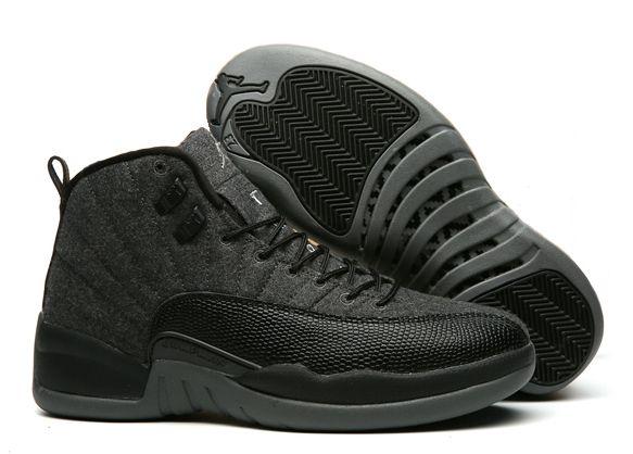 Nike Air Jordan 12 Retro черные (40-45)