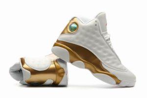 Air Jordan 13 Retro белые с золотым (40-45)