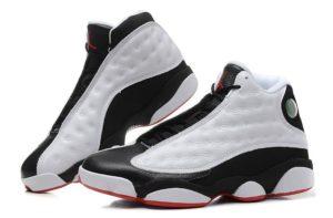 Air Jordan 13 Retro белые с черным и красным (40-45)