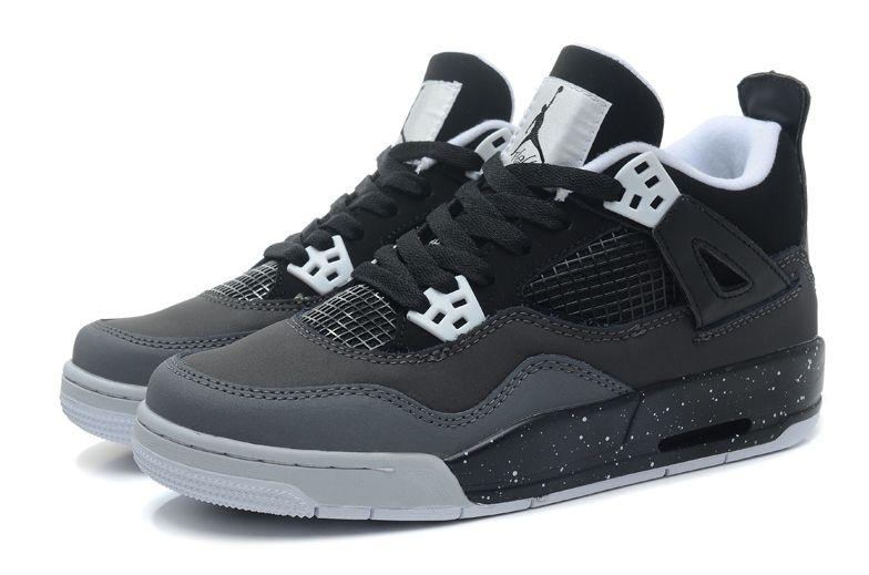Air Jordan 4 Retro серые с черным (35-45)