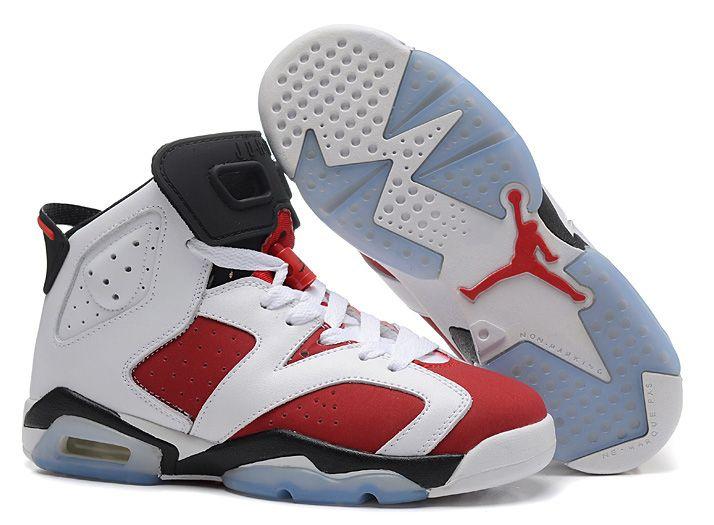 Air Jordan 6 Retro белые с красным (35-44)