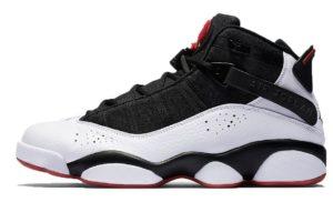 Air Jordan 6 Rings белые с черным (40-44)