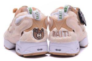 Bait x Ted x Reebok Insta Pump розовые с белым (36-40)