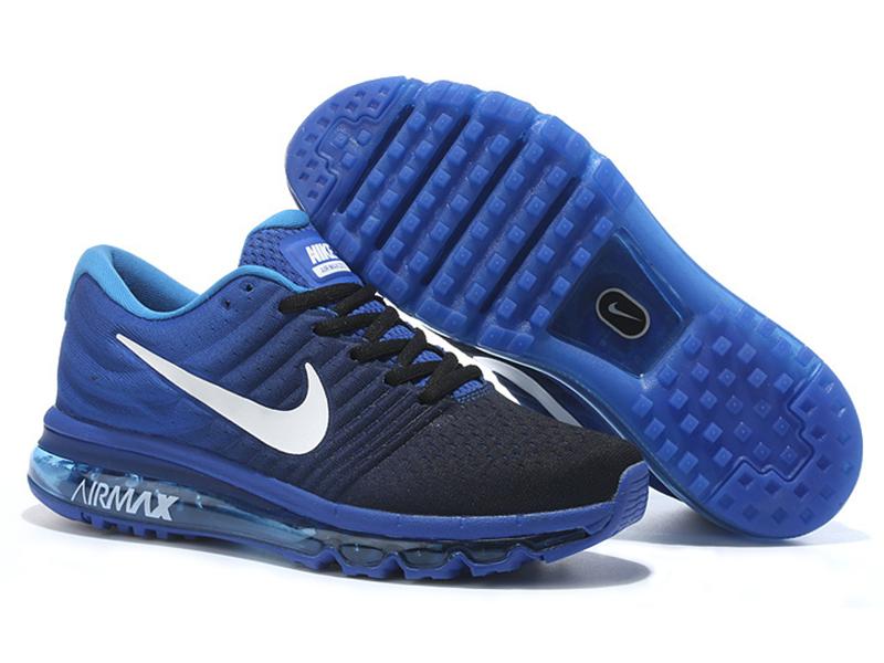 Nike Air Max 2017 синие с черным (40-45)