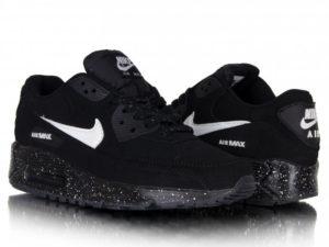 Nike Air Max 90 черные с белым (35-45)