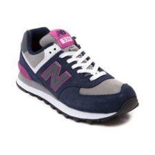New Balance 574 синие с розовым и серым (36-40)