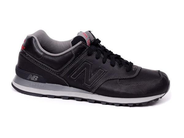 New Balance 574 кожаные черные (40-45)
