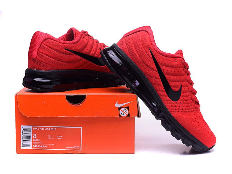Nike Air Max 2017 красные с черным (40 45)