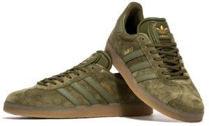 Adidas Gazelle темно зеленые