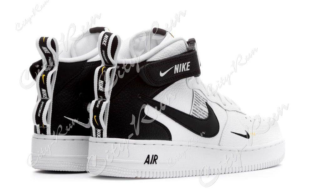 429566f0 Nike Air Force 1 Mid 07 LV8 Utility белые с черным (35-44) — купить ...
