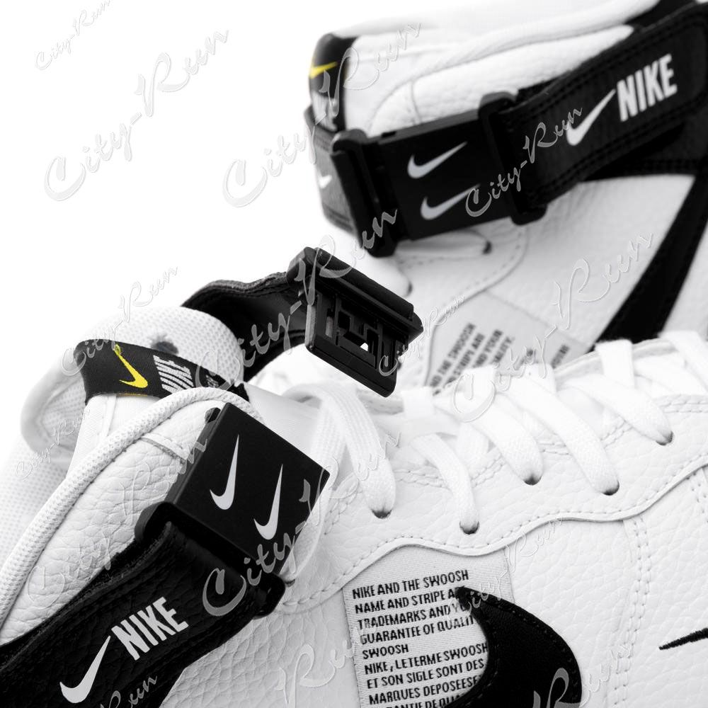 27155f61 Nike Air Force 1 Mid 07 LV8 Utility белые с черным (35-44) — купить ...