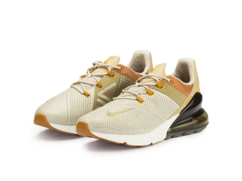 Nike Air Max 270 светло-коричневые кожа (40-44)