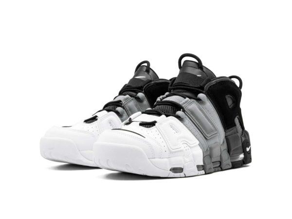 Nike Air More Uptempo белые с черным и серым 40-45