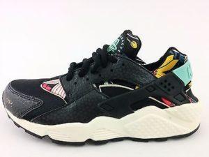 Nike Huarache черные с рисунком(35-39)