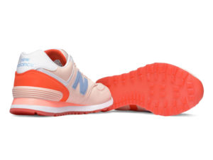New Balance 574 нубук розовые с красным (35-40)