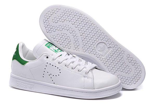 Raf Simons x Adidas Stan Smith белые с зеленым (35-44)