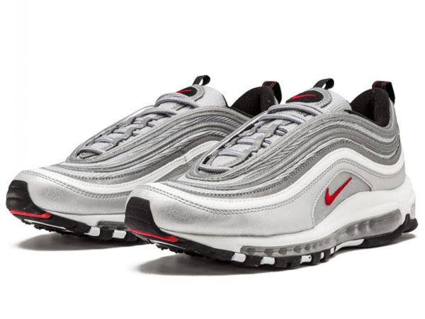 Кроссовки Nike Air Max 97 серебряные silver (35-44)
