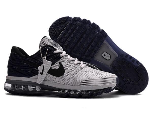 Nike Air Max 2017 с сеткой серые с синим (40-44)
