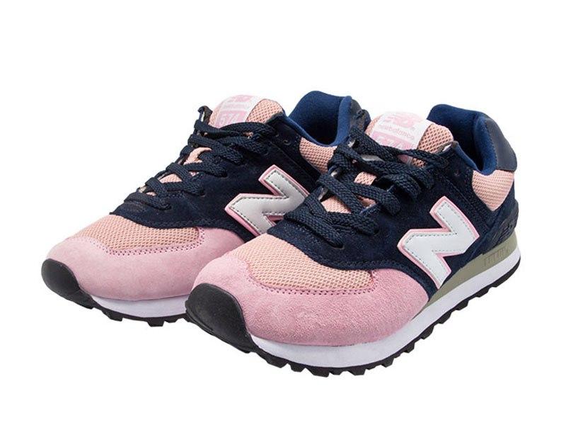 New Balance 574 синие с розовым (36-40)