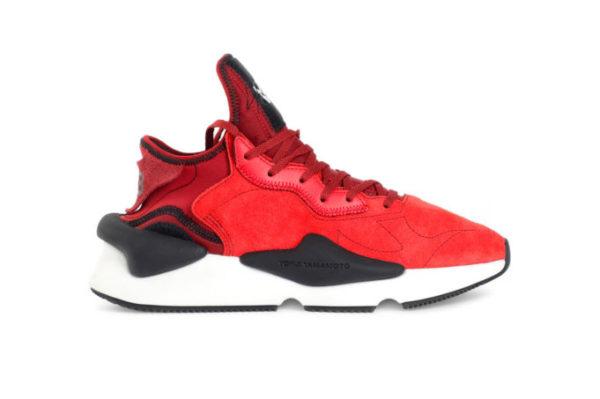 Кожаные мужские красные кроссовки