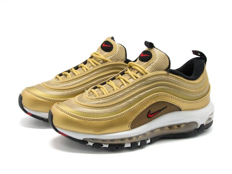 Кроссовки Nike Air Max 97 золотые-gold (35-45)