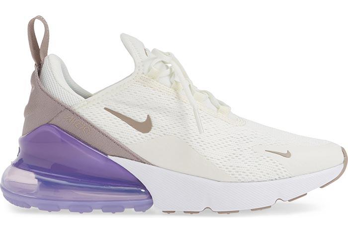 Nike Air Max 270 белые с сиреневым (35-39)
